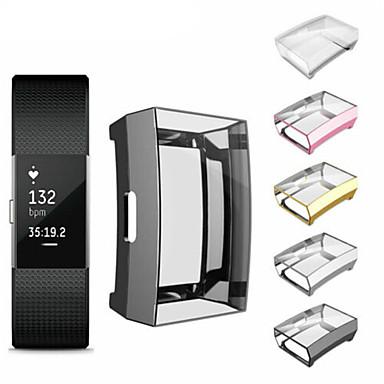 Недорогие Аксессуары для смарт-часов-для fitbit заряд 2 браслет тпу ультратонкий полный защитный чехол прозрачная крышка