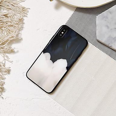 voordelige Galaxy Note-serie hoesjes / covers-hoesje Voor Samsung Galaxy S9 / S9 Plus / S8 Plus Spiegel / Ultradun / Patroon Achterkant Veren TPU