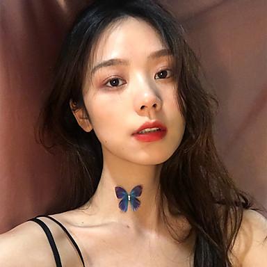 Pentru femei Coliere Choker Lănțișor Transparent Fluture La modă Corean Dulce Modă Material Textil Crom Mov 30 cm Coliere Bijuterii 1 buc Pentru Zilnic Concediu Muncă Club Festival