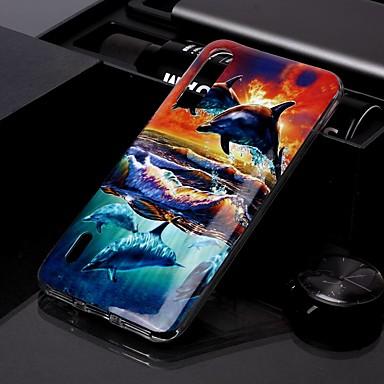 Недорогие Чехлы и кейсы для Xiaomi-чехол для xiaomi cc9 / xiaomi cc9e imd / выкройка задней обложки закат дельфин тпу для redmi k20 / k20 pro / redmi 7a / redmi note 7 / note 7 pro