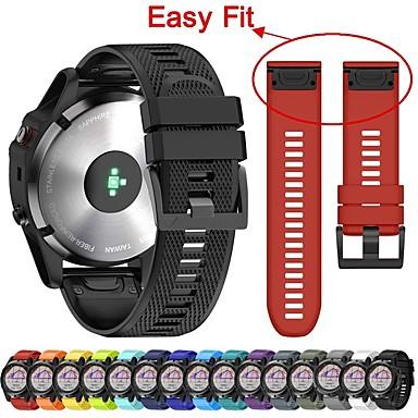 voordelige Smartwatch-accessoires-Horlogeband voor Fenix 5x Plus Garmin Klassieke gesp Silicone Polsband