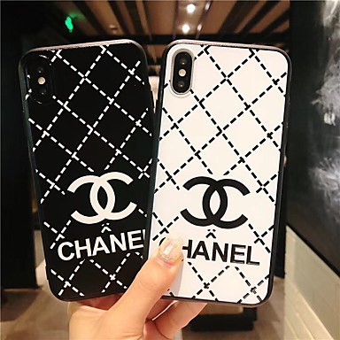 voordelige iPhone 6 Plus hoesjes-hoesje Voor Apple iPhone XS / iPhone XR / iPhone XS Max Ultradun / Patroon Achterkant Woord / tekst / Geometrisch patroon TPU