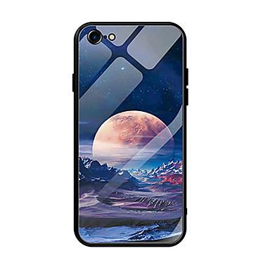 Недорогие Кейсы для iPhone-Кейс для Назначение Apple iPhone XS / iPhone XR / iPhone XS Max Защита от удара / Ультратонкий / С узором Кейс на заднюю панель Пейзаж Закаленное стекло