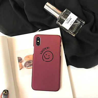voordelige iPhone-hoesjes-hoesje Voor Apple iPhone XS / iPhone XR / iPhone XS Max Stofbestendig / Patroon Achterkant Woord / tekst / Cartoon PC