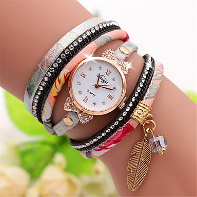 رخيصةأون ساعات الرجال-رجالي ساعة التفاف كوارتز محبوك مجموعة هدية نايلون أسود / أحمر / الوردي إبداعي ساعة كاجوال كوول مماثل كاجوال موضة - أسود أبيض أزرق