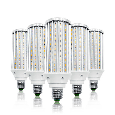 olcso LED izzók-loende 5 csomag 60w led kukorica lámpák 6000 lm e26 / e27 t 160 led gyöngyök smd 5730 meleg fehér fehér 85-265 v