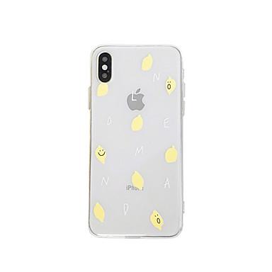 voordelige iPhone X hoesjes-hoesje Voor Apple iPhone XS / iPhone XR / iPhone XS Max IMD / Ultradun / Transparant Achterkant Voedsel / Transparant / Cartoon TPU
