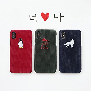 Недорогие Кейсы для iPhone 7 Plus-чехол для яблока iphone xs / iphone xr / iphone xs max ультратонкий / рисунок с задней обложкой животное / мультфильм текстиль