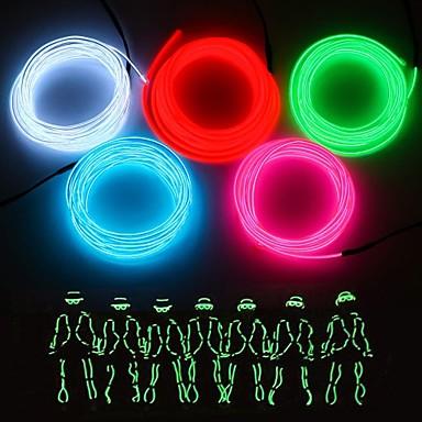 povoljno Fleksibilne LED svjetlosne trake-3M Savitljive LED trake 1 LED diode EL Bijela / Crveno / Plavo Party / Ukrasno / Pogodno za vozila AA baterije su pogonjene 1pc
