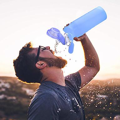 olcso Kemping felszerelések-LITBest csésze 600 ml Szilícium Összecsukható mert Szabadtéri gyakorlat 1 pcs Kék Rózsaszín