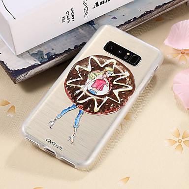 voordelige Galaxy S-serie hoesjes / covers-hoesje Voor Samsung Galaxy S8 Plus / S8 / S7 edge Waterbestendig / Stofbestendig / Doorzichtig Achterkant Sexy dame TPU