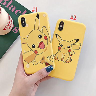 voordelige iPhone-hoesjes-hoesje Voor Apple iPhone XS / iPhone XR / iPhone XS Max Stofbestendig / Patroon Achterkant Cartoon TPU