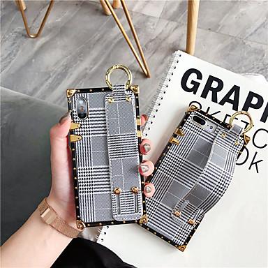 voordelige iPhone 6 Plus hoesjes-hoesje voor Apple iPhone XS Max / iPhone 8 plus stofdicht / met standaard / armband achterkant geometrisch patroon zachte TPU voor iPhone 7/7 plus / 8/6/6 plus / xr / x / xs