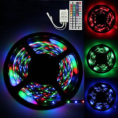 abordables LED e Iluminación-loende luces de tira led 5m 300 led 2835 smd rgb cinta luces autoadhesivas multicolor para sala cocina tv festival iluminación con control remoto 12v