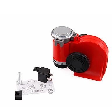 voordelige Auto-audio-2 stks compacte elektrische luide blast 12 v rode grille mount super tone hoorn kit zonder relais