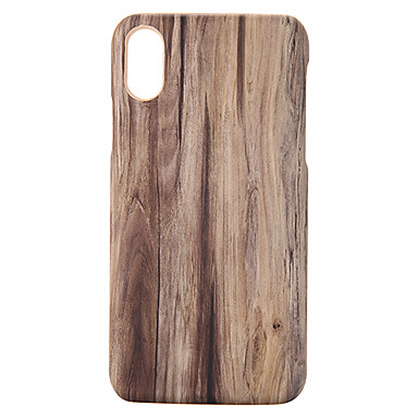 voordelige iPhone-hoesjes-hoesje Voor Apple iPhone XS / iPhone XR / iPhone XS Max Ultradun / Patroon Achterkant Houtnerf PU-nahka / PC