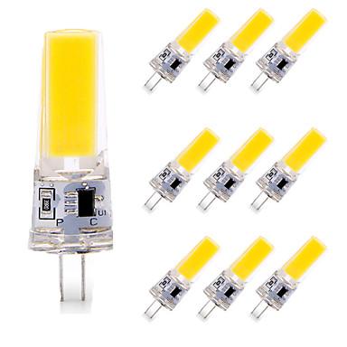 ieftine Becuri LED-10pcs 6 W Becuri LED Bi-pin 600 lm G4 T 1 LED-uri de margele COB Intensitate Luminoasă Reglabilă Model nou Alb Cald Alb 110-120 V
