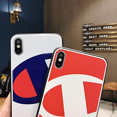 voordelige iPhone-hoesjes-hoesje Voor Apple iPhone XS / iPhone XR / iPhone XS Max Ultradun / Patroon Achterkant Woord / tekst / Geometrisch patroon TPU