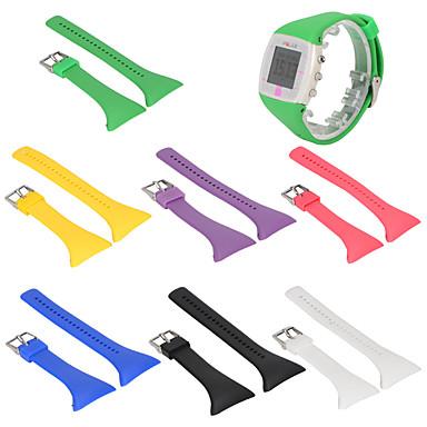 Недорогие Аксессуары для смарт-часов-Ремешок для часов для POLAR FT7 / POLAR FT4 Polar Спортивный ремешок силиконовый Повязка на запястье