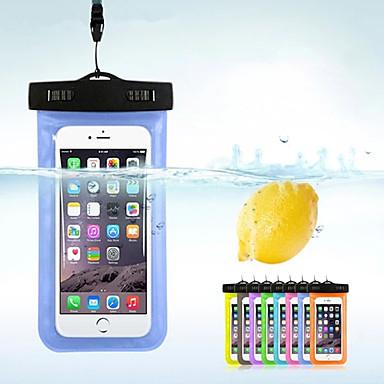 Недорогие Чехлы и кейсы для HTC-чехол для яблока / samsung galaxy / huawei универсальный водонепроницаемый водонепроницаемый чехол сплошной цветной пвх
