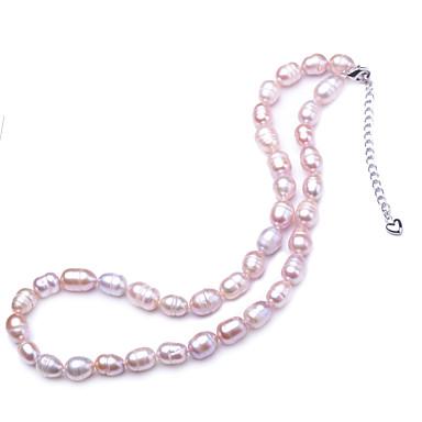 olcso Női ékszerek-Női Édesvízi gyöngy Nyaklánc Klasszikus Édes Gyöngy Fehér 42 cm Nyakláncok Ékszerek 1db Kompatibilitás Ajándék