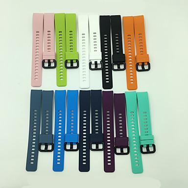 Недорогие Ремешки для часов Huawei-Ремешок для часов для ЧЕСТЬ 4 Huawei Классическая застежка силиконовый Повязка на запястье