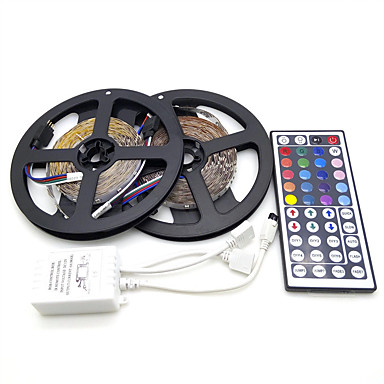 cheap New Arrivals-LOENDE 10M 3528 SMD RGB 600 LED Strip Light String Tape44 Key IR Remote control LED Ribbon Tape Under Cabinet Cupboard Decoration