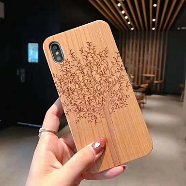 رخيصةأون أغطية أيفون-حالة لتفاح iphone xs / iphone xr / iphone xs max / 7 8 plus / 6splus / 6s تنقش / نمط الغطاء الخلفي الجمجمة / شجرة / زهرة خشبية