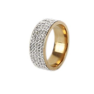 levne Široké prsteny-Pánské Dámské Band Ring Prsten Tail Ring 1ks Zlatá Stříbrná Titanová ocel Kulatý Vintage Základní Módní Dar Šperky
