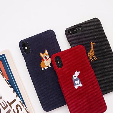 Недорогие Кейсы для iPhone 6-Кейс для Назначение Apple iPhone XS / iPhone XR / iPhone XS Max С узором Кейс на заднюю панель Животное / Мультипликация текстильный