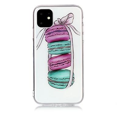 Недорогие Кейсы для iPhone-Кейс для Назначение Apple iPhone 11 / iPhone 11 Pro / iPhone 11 Pro Max Ультратонкий / Прозрачный / С узором Кейс на заднюю панель Продукты питания ТПУ
