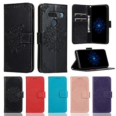 Недорогие Чехлы и кейсы для LG-Чехол для LG G8 K40 V50 держатель карты с подставкой флип чехлы для всего тела цветок искусственная кожа G7 / G7 thinq Stylo 4 / Q стилус V40 K50 K10 2018 Stylo 5