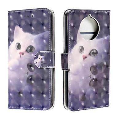 Недорогие Чехлы и кейсы для Nokia-чехол для nokia 9 pureview / nokia 7.1 / кошелек nokia 4.2 / флип-кейс / флип чехлы для всего тела кошка искусственная кожа для nokia 1 plus / nokia x71