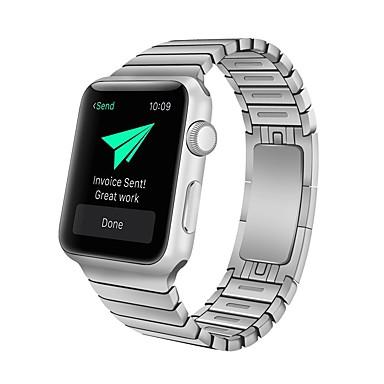 Недорогие Аксессуары для смарт-часов-Ремешок для часов для Apple Watch Series 4 / Apple Watch Series 3 Apple Классическая застежка Нержавеющая сталь Повязка на запястье