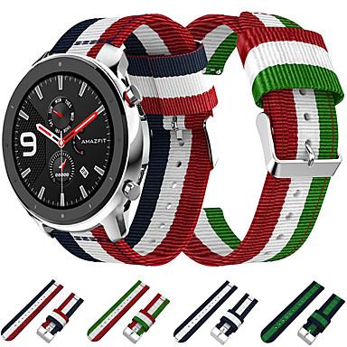 Недорогие Часы для Samsung-плетеный нейлоновый ремешок для часов наручные ремешок для xiaomi huami amazfit gtr 42 мм / amazfit bip youth / samsung galaxy watch 42 мм браслет сменный браслет