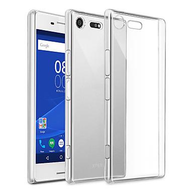 Недорогие Чехлы и кейсы для Sony-Кейс для Назначение Sony Sony Xperia XZ Premium Защита от пыли / Ультратонкий / Прозрачный Кейс на заднюю панель Однотонный ТПУ