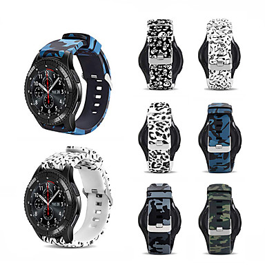 Недорогие Часы для Samsung-спортивный силиконовый ремешок для часов ремешок на запястье для samsung galaxy watch 46mm / gear s3 classic / frontier браслет сменный браслет