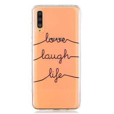 voordelige Galaxy A-serie hoesjes / covers-case voor samsung galaxy a40 (2019) / galaxy a50 (2019) / a70 (2019) patroon achteromslag tekstregel tpu voor a10 (2019) / a20 (2019) / a30 (2019) / a8 (2018) / a7 (2018) / a6 (2018) / a5 (2017) / a3