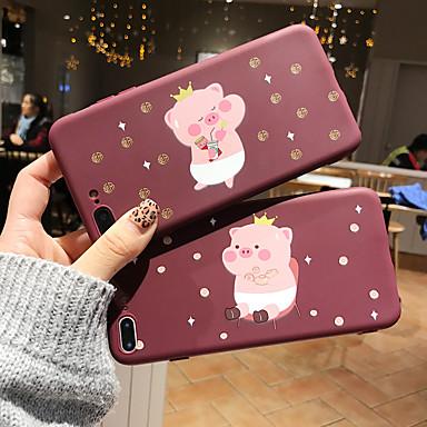 Недорогие Кейсы для iPhone 6-чехол для яблока iphone xs / iphone xr / iphone xs max / 7 8 plus / 6splus / 6s матовый / узор задняя крышка 3d мультфильм тпу