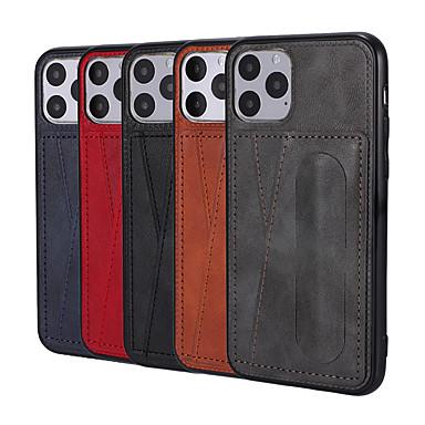 Недорогие Кейсы для iPhone-Кейс для Назначение Apple iPhone 11 / iPhone 11 Pro / iPhone 11 Pro Max Кошелек / Ультратонкий / Магнитный Чехол Плитка Кожа PU