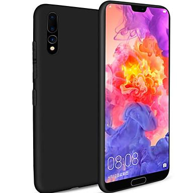 olcso Táblagép tokok-Case Kompatibilitás Huawei MediaPad Huawei P20 / Huawei P30 Ütésálló / Ultra-vékeny / Jeges Fekete tok Egyszínű TPU