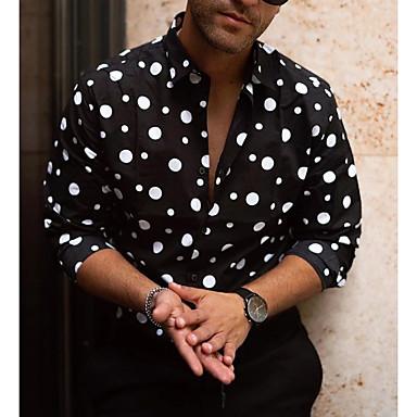povoljno Muške jakne-Majica Muškarci - Osnovni Dnevno Cvjetni print Crn