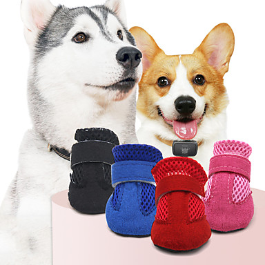 povoljno Odjeća za psa i dodaci-Ljubimci Pas Cipele i čizme Čizme za psa / Cipele za psa Ležerno / za svaki dan Jednobojni Za kućne ljubimce Koža Crn / Ljeto / Zima