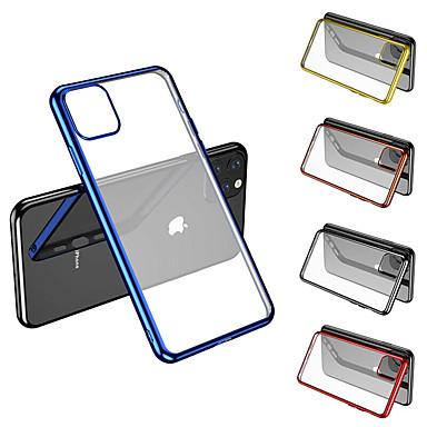 Недорогие Кейсы для iPhone 7-Кейс для Назначение Apple iPhone 11 / iPhone 11 Pro / iPhone 11 Pro Max Покрытие Кейс на заднюю панель Однотонный ТПУ