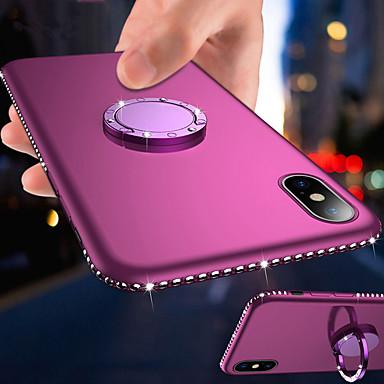 Недорогие Кейсы для iPhone 7-магнитный держатель для колец bling diamond soft tpu чехол для телефона для iphone 11 pro max / iphone 11 pro / iphone 11 / xs max xr xs x 8 плюс 8 7 плюс 7 6 плюс 6 горный хрусталь рама силиконовая