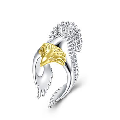 رخيصةأون خواتم-نسائي خاتم 1PC ذهبي فضي طلاء الفضة سبيكة مناسب للبس اليومي مجوهرات بوم
