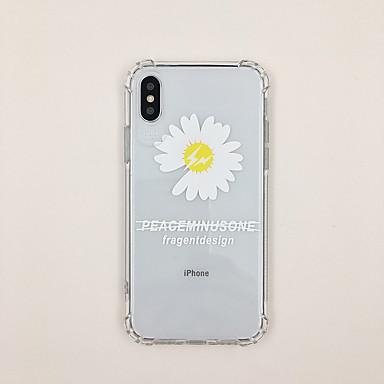 Χαμηλού Κόστους Θήκες iPhone 6 Plus-tok Για Apple iPhone XS / iPhone XR / iPhone XS Max Εξαιρετικά λεπτή / Διαφανής / Με σχέδια Πίσω Κάλυμμα Διάφανη / Κινούμενα σχέδια / Λουλούδι TPU