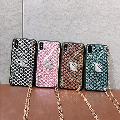 Недорогие Кейсы для iPhone X-чехол для яблока применим к 11/11 pro / 11 pro max / xs max горный хрусталь лебедь xr четыре стороны x / xs защитный чехол 6/7/8 / 6plus / 7plus / 8plus диагональная мобильная оболочка