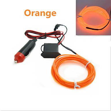 1 komad žice veza 5m auto 12v 3w 30lm led hladna svjetla fleksibilna neonska el žica auto svjetiljke na automobilu hladno svjetlo trake linija unutarnjeg uređenja trake svjetiljke za univerzalne