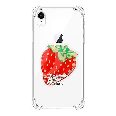 voordelige iPhone 6 hoesjes-hoesje Voor Apple iPhone XS / iPhone XR / iPhone XS Max Schokbestendig / Stromende vloeistof / Transparant Achterkant Glitterglans TPU